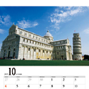 オリジナル卓上カレンダー制作事例:世界遺産の写真