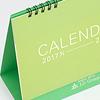 オリジナル卓上カレンダー制作事例:4月始まりのシンプルな卓上カレンダー